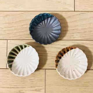 和食器 菊型 小皿 豆皿 セット 黒 日本製 メイドインジャパン 箸置き 花型