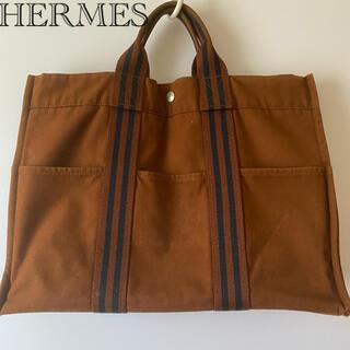 エルメス(Hermes)の【人気デザイン】HERMESエルメスフールトゥキャンバスハンドバッグトートバッグ(ハンドバッグ)