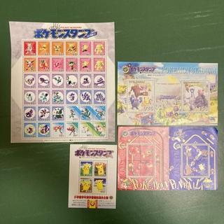 ニンテンドウ(任天堂)のポケモンスタンプ 各種シート8枚セット(キャラクターグッズ)
