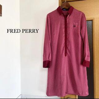 フレッドペリー(FRED PERRY)のフレッド ペリー ワンピース 赤 レッド 水玉(ひざ丈ワンピース)