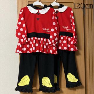 Disney - <581>双子ミニーちゃんパジャマ120サイズ