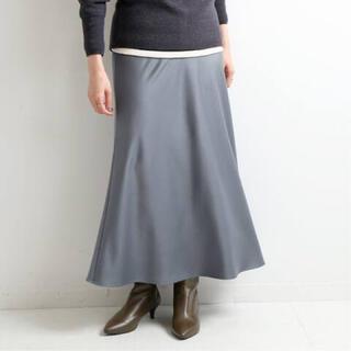 IENA - IENA サテンバイヤスフレアスカート