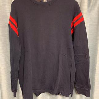 ステューシー(STUSSY)のステューシー stussy カットソー ドクロステッチ ネイビー Lサイズ(Tシャツ/カットソー(七分/長袖))