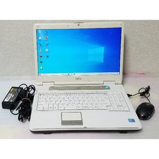 富士通 - 富士通 ノートパソコン Windows10 エクセル ワード DVDマルチ