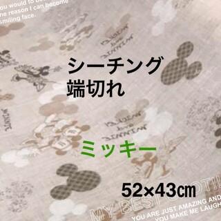ミッキーマウス(ミッキーマウス)のはぎれ  シーチング生地  ミッキー&ミニー   52×43cm(生地/糸)