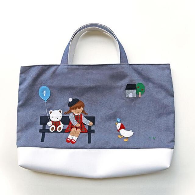 familiar(ファミリア)のファミリア デニムバック キッズ/ベビー/マタニティのこども用バッグ(レッスンバッグ)の商品写真