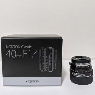 富士フイルム - NOKTON classic 40mm f1.4 s.c マウントアダプター