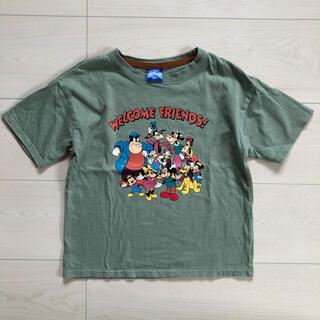 Disney - 美品✨ディズニーフレンズ♡Tシャツ 120 くすみ緑