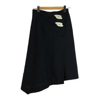 ルシェルブルー(LE CIEL BLEU)のIRENE WrapFrontSkirt キーラ スカート ネイビー アイレネ(ロングスカート)