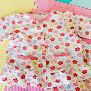 ミキハウス(mikihouse)のミキハウス パジャマ 80 上下 花柄 フラワー  ピンク 女の子 長袖(パジャマ)