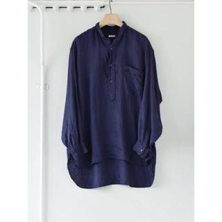 COMOLI - コモリ 21ss リネンWクロスプルオーバーシャツ size3