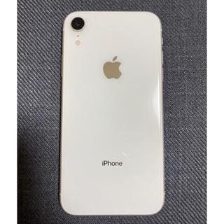 iPhone - iPhoneXR 本体 ホワイト 128GB SIMフリー