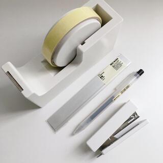 ムジルシリョウヒン(MUJI (無印良品))の無印良品 文房具セット テープカッター台 定規 ボールペン ホッチキス(その他)