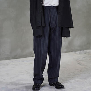 COMOLI - オーラリー auralee ワイド スラックス パンツ ストライプ スーツ