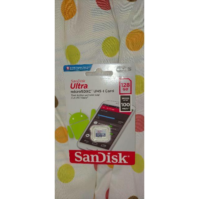 MicroSD SanDisk ULTRA 128GB 100MB/s 未開封 スマホ/家電/カメラのPC/タブレット(その他)の商品写真