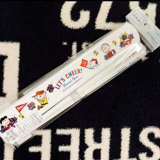 スヌーピー(SNOOPY)のスヌーピー/引きフタ箸セット/携帯箸/ランチグッズ/PEANUTS(弁当用品)