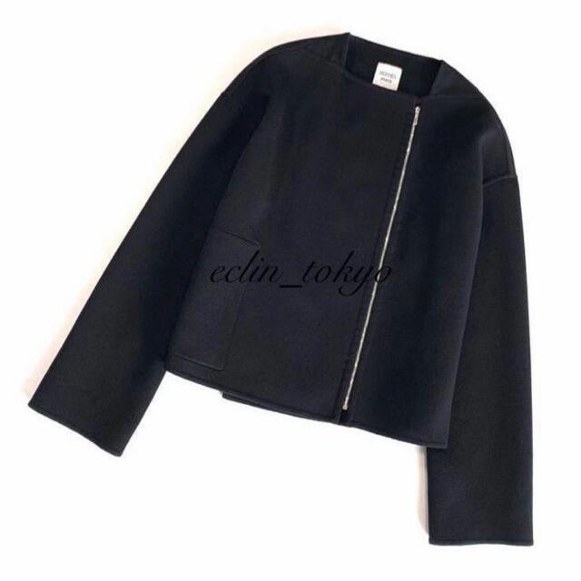 Hermes(エルメス)の新品同様 HERMES エルメス 最高級 カシミヤ ショート コート E3077 レディースのジャケット/アウター(その他)の商品写真