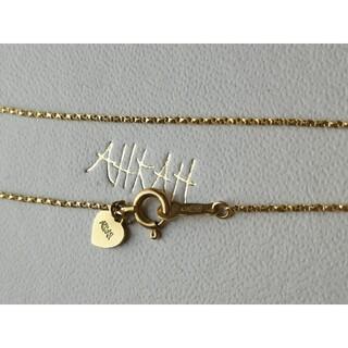 AHKAH - アーカー ベネツイストチェーン ハートクロス ブレスレット K18YG