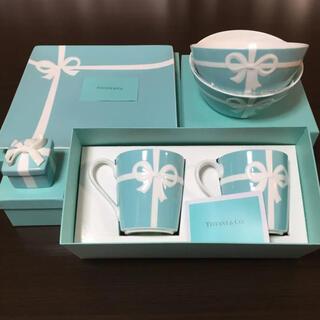 ティファニー(Tiffany & Co.)のティファニー ブルーボックスマグ ボウル プレート BOX ブルーリボン6点食器(食器)