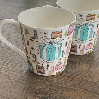 ティファニー(Tiffany & Co.)の【新品】ティファニー ニューヨーク ペアマグカップ(グラス/カップ)