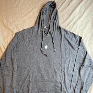 アップル(Apple)の珍品 L Apple Logo hooded long sleeve Tee(Tシャツ/カットソー(七分/長袖))