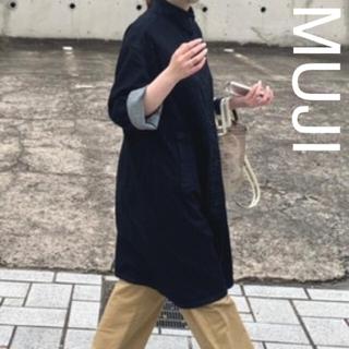 ムジルシリョウヒン(MUJI (無印良品))の新品【MUJI】無印良品 ストレッチデニムコート レディース M-L(ロングコート)