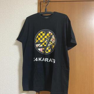 24karats - Tシャツ 24karats  チェッカー柄 花柄