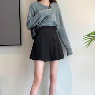 グレイル(GRL)のGRL プリーツミニスカート 黒(ミニスカート)