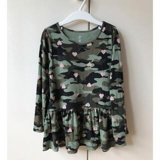 ベビーギャップ(babyGAP)のGAP 迷彩 ハート 長袖 チュニック丈(Tシャツ/カットソー)