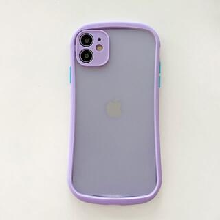iPhone12/12pro クリアケース 紫
