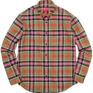 Supreme - 17aw supreme tartan flannel shirt M