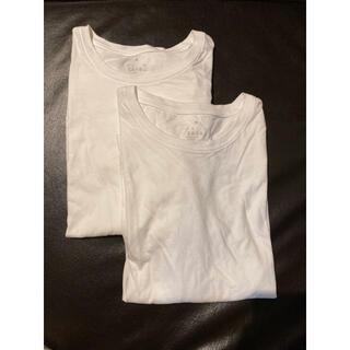 ムジルシリョウヒン(MUJI (無印良品))の新品未使用と一度着用の2点セット 無印 ロンT 白 M(Tシャツ(長袖/七分))