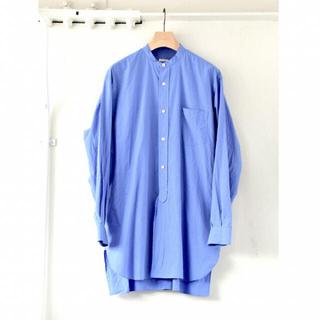 COMOLI - 新品未使用 21aw comoli バンドカラーシャツ SAX サイズ3