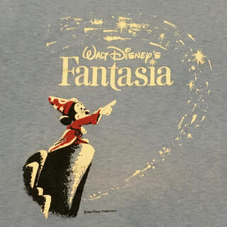 ミッキーマウス(ミッキーマウス)の80's USA製 ディズニーファンタジア 魔法使いの弟子 ミッキー Tシャツ(Tシャツ/カットソー(半袖/袖なし))
