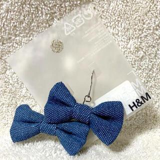 エイチアンドエム(H&M)のH&M ピアス リボン アクセサリー デニム生地リボン インポート(ピアス)