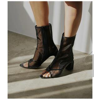 アメリヴィンテージ(Ameri VINTAGE)のSANDAL LIKE BOOTS ブラック Lサイズ 新品(ブーツ)