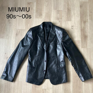 【⭐︎希少⭐︎】MIUMIU フェイクレザージャケット
