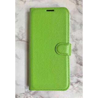 オッポ(OPPO)の新入荷!シンプルレザー手帳型ケース OPPO A73 グリーン 緑(Androidケース)