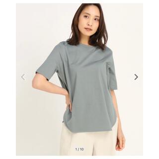 ストロベリーフィールズ(STRAWBERRY-FIELDS)のストロベリーフィールズ クレンゼオーガニック Tシャツ カットソー グリーン M(カットソー(半袖/袖なし))
