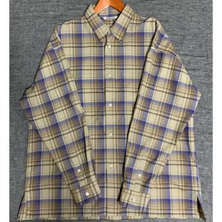 COMOLI - AURALEE 18AW ウールチェックシャツ ベージュ オーラリー