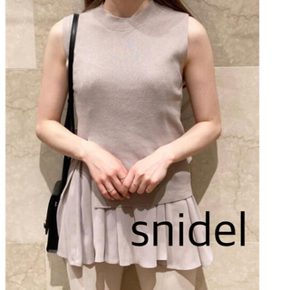 snidel - 美品 snidel スナイデル サステナブルニットセットチュニック ベージュ