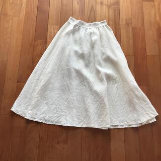 ユナイテッドアローズ(UNITED ARROWS)のロングリネンスカート フレアスカート  ONEIL OF DUBLIM(ひざ丈スカート)