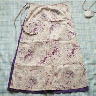 フェリシモ(FELISSIMO)のロングスカート 紫 フェリシモ(ロングスカート)