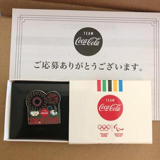 コカコーラ(コカ・コーラ)の【非売品】東京2020 記念ピン 花火(ノベルティグッズ)