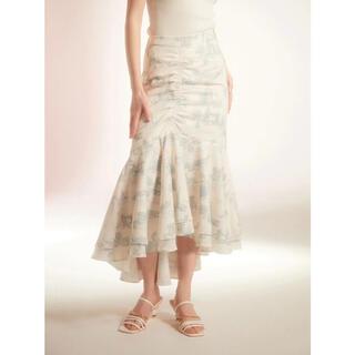 エイミーイストワール(eimy istoire)のEimy Paris pattern アシンメトリーギャザーマーメイドスカート (ロングスカート)