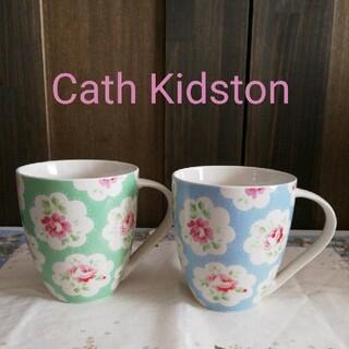 キャスキッドソン(Cath Kidston)のCath Kidston プロヴァンスローズ マグカップ2個セット 新品(グラス/カップ)