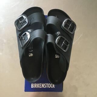 ビルケンシュトック(BIRKENSTOCK)の43 希少!普通幅 ビッグバックル ビルケンシュトック アリゾナ 黒 新品(サンダル)