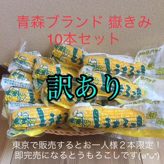 青森ブランド 訳あり 嶽きみ とうもろこし 真空 10本 日本一 甘い うまい(野菜)