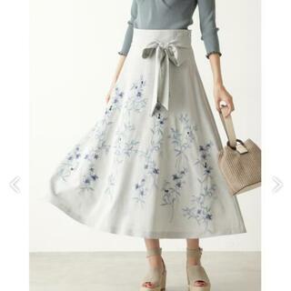 ジルスチュアート(JILLSTUART)の新品タグ付 ジルスチュアート クレールフレアスカート 花柄 フラワースカート(ロングスカート)