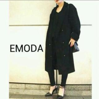 エモダ(EMODA)のエモダ モッサマキシコート 黒(ロングコート)